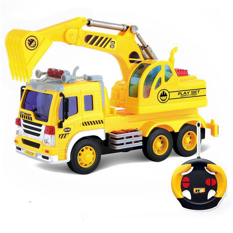 Радиоуправляемый грузовик — экскаватор 1:16