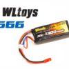 Аккумулятор Black Magic 7.4V 1300mAh 30C LiPo JST-BEC plug (WLToys V666)
