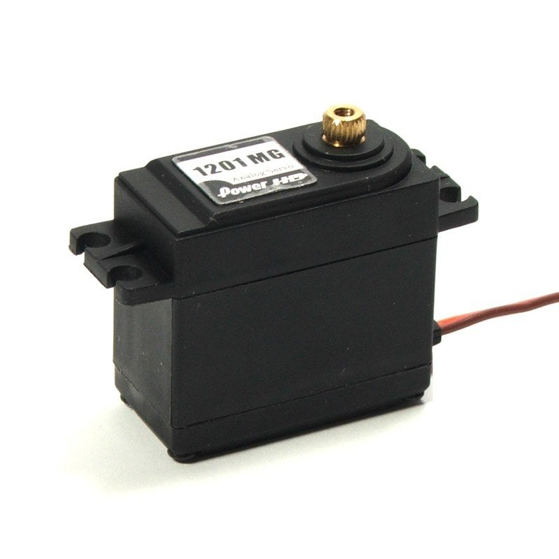 Power HD 1201MG аналоговый сервопривод 13.2кг/ 0.14с/ 6В (стандартный размер, медные. шестерни)