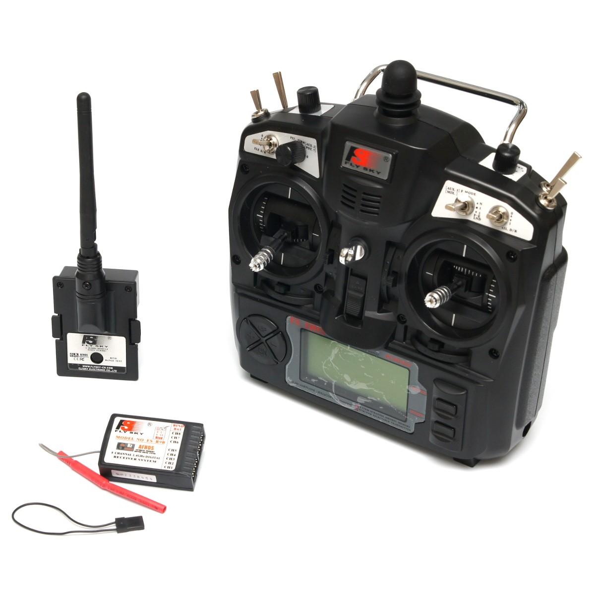 Универсальный программируемый 9-ch передатчик FlySky FS-TH9X и 8-ch приёмник FlySky FS-R8B 2.4Ghz