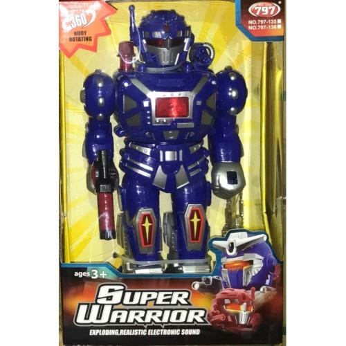 Робот на батарейках SUPER WARRIOR,крутится вокруг оси