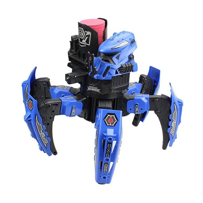 Радиоуправляемый робот-паук Space Warrior с пульками, дисками и лазерным прицелом 2.4G