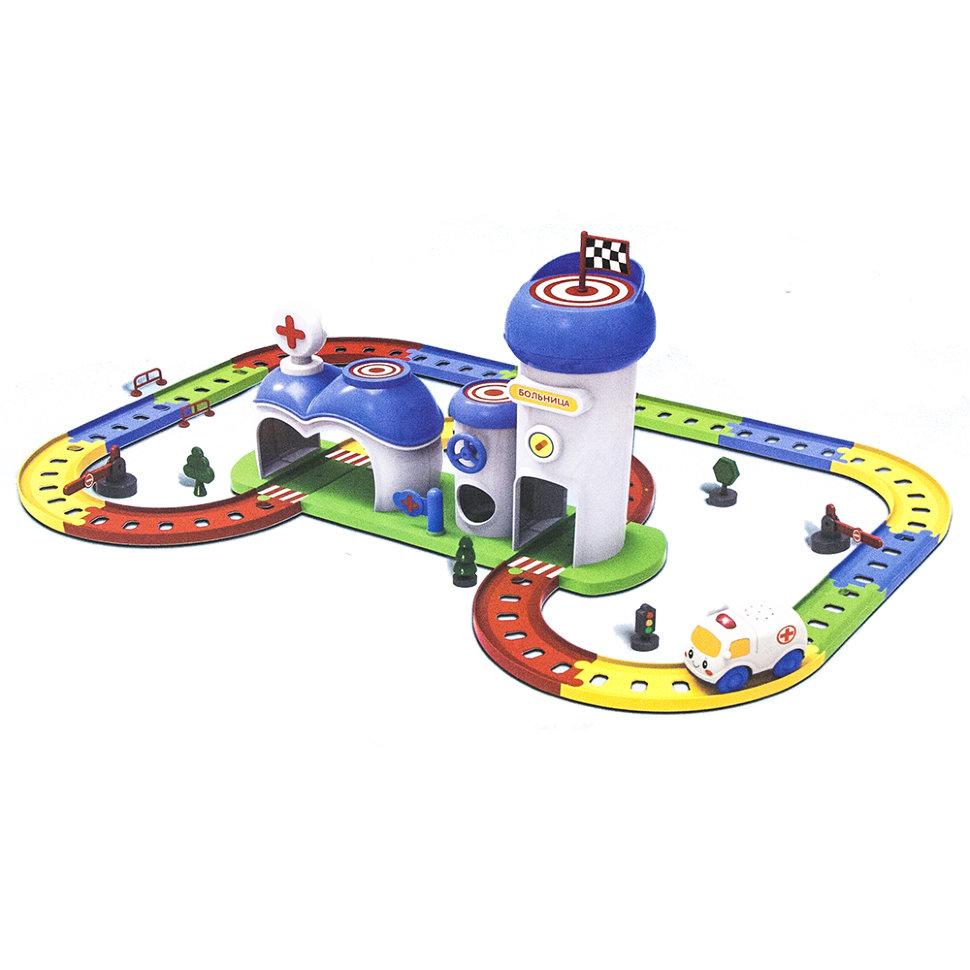 Детский игровой набор автотрек-конструктор «Твой старт — Больница»