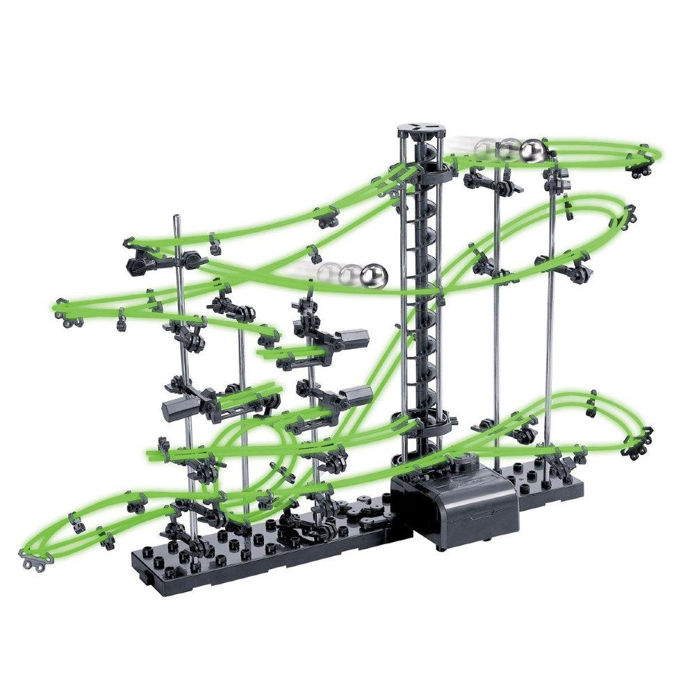 Динамический конструктор Космические горки, светящиеся рельсы, уровень 2 — 231-2G