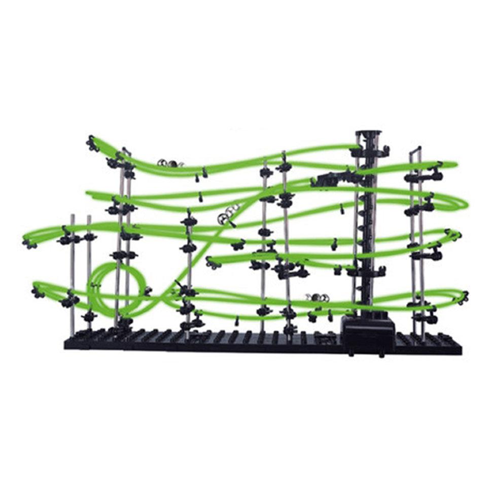 Динамический конструктор Космические горки, светящиеся рельсы, уровень 3 — 231-3G