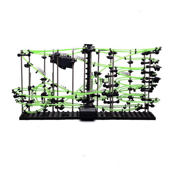 Динамический конструктор Космические горки, светящиеся рельсы, уровень 4 — 231-4G