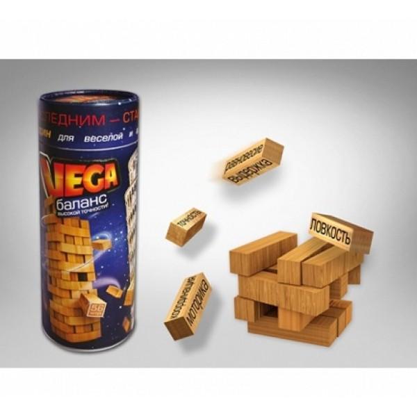 Игра деревянная балансир VEGA в тубусе