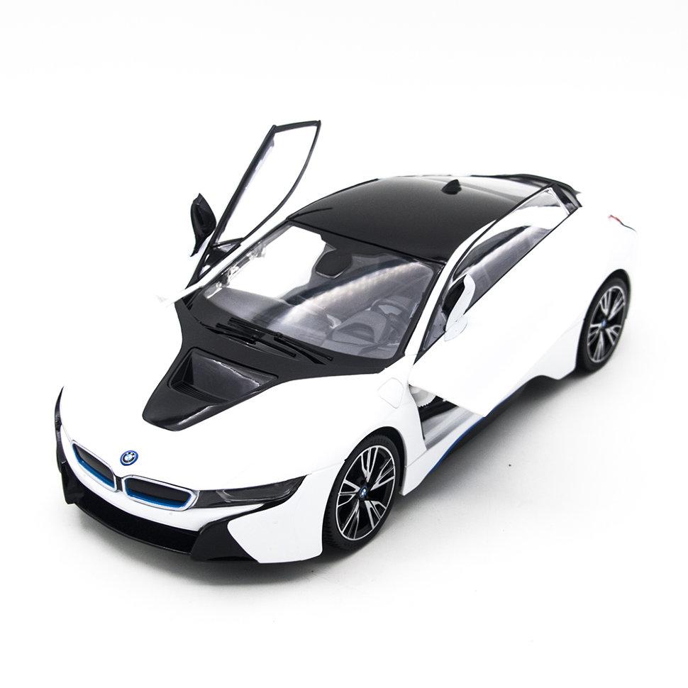 Радиоуправляемая машина Rastar BMW i8 White 1:14 (двери открываеются с пульта) — RAS-71000-W
