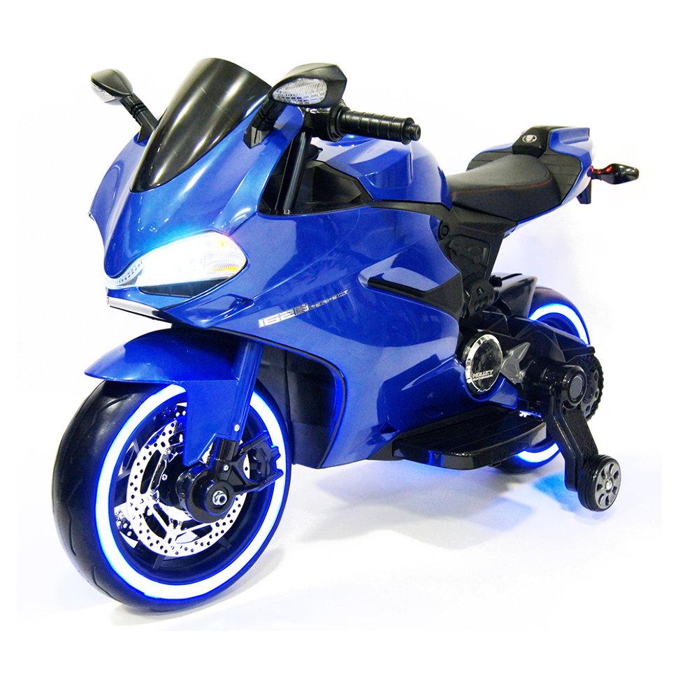 Детский электромобиль — мотоцикл Ducati Blue — SX1628-G