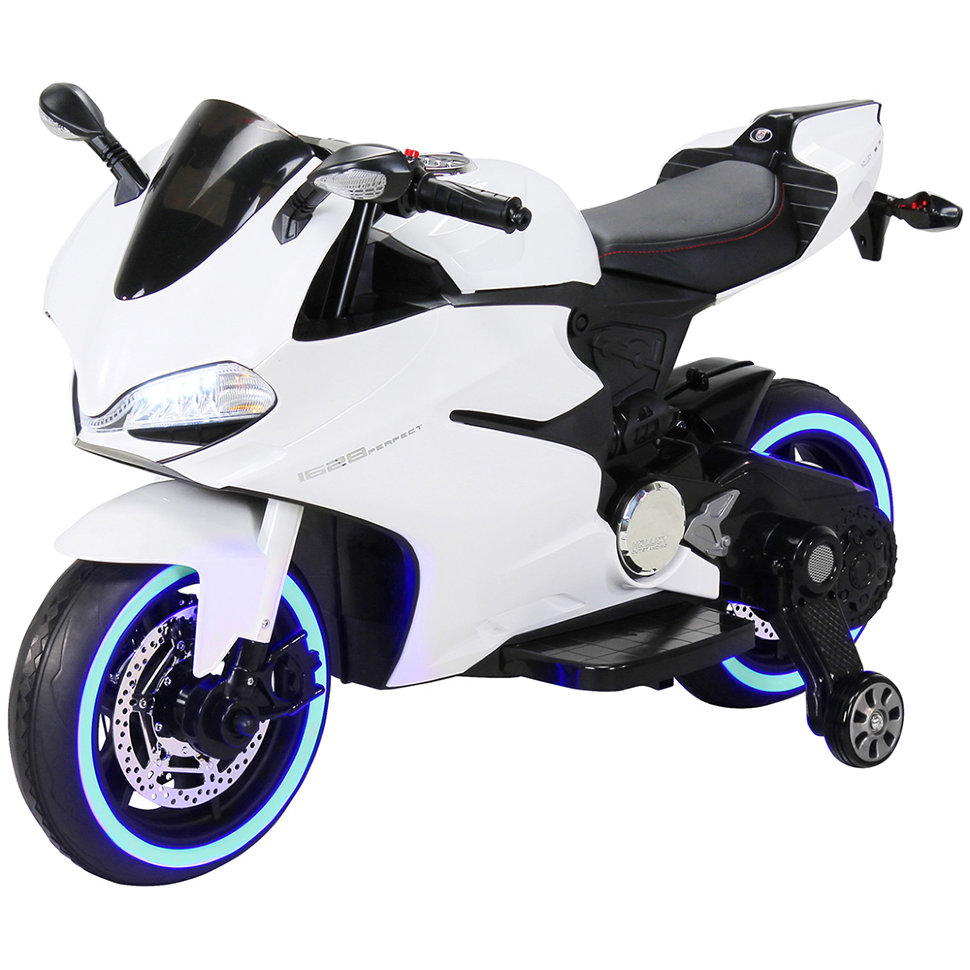 Детский электромобиль — мотоцикл Ducati White — SX1628-G