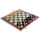 Игра настольная 3 в 1: нарды, шахматы, шашки, в пленке 578811