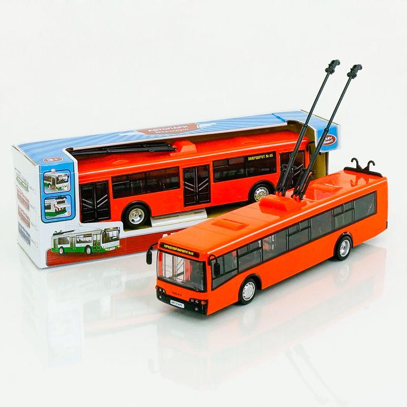 Инерционный троллейбус «Автопарк» (свет, звук), 1:43