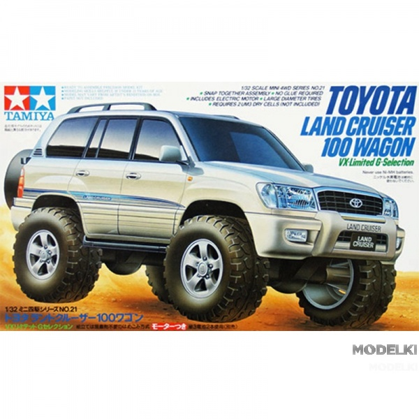 Toyota Landcruiser 100 с электромоторчиком (1:32)