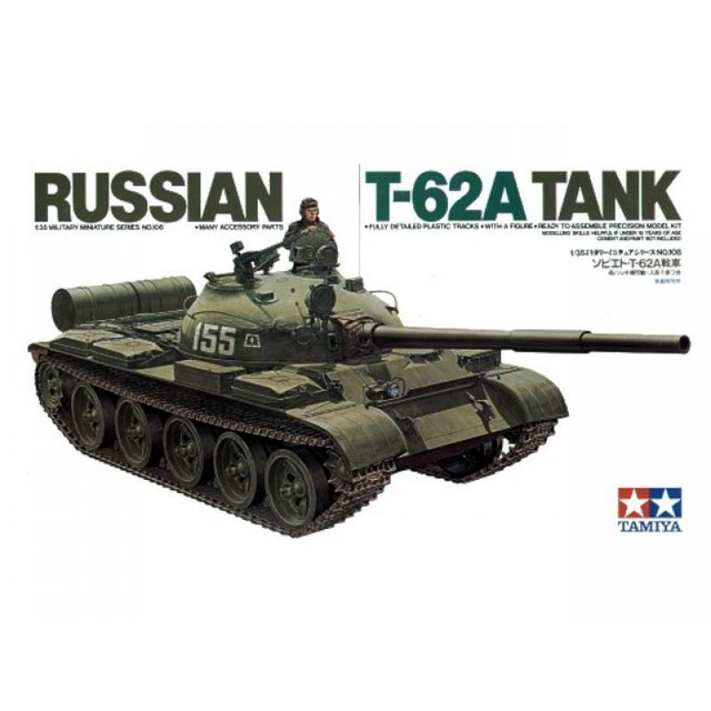 Советский танк Т-62А с 1 фигурой (1:35)