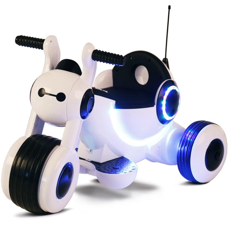 Детский электромотоцикл HL300 White 6V — HL300