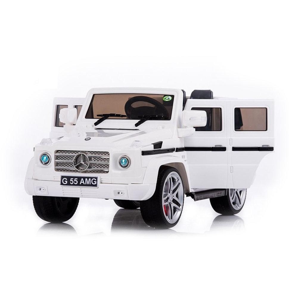 Радиоуправляемый детский электромобиль Mercedes Benz G55 White Luxury 12V 2.4G — DMD-178-LUX-W