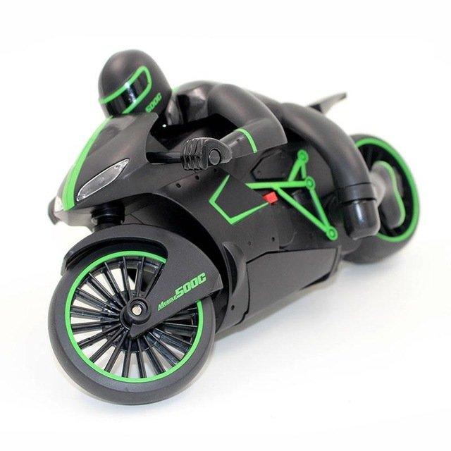 Радиоуправляемый черно-зеленый мотоцикл ZC333 4CH 1:12 2.4G — 333-MT01B-G