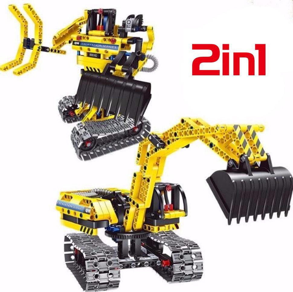 Конструктор 2 в 1 (экскаватор и робот) QiHui Technics 342 детали — QH6801