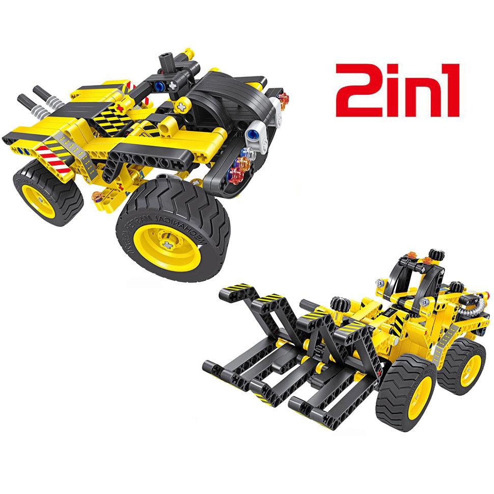 Конструктор 2 в 1 (трактор и багги) QiHui Technics 342 детали — QH6804