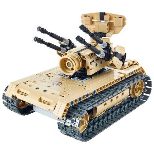 Радиоуправляемый конструктор зенитный танк QiHui Technics 4CH 2.4G 457 деталей — QH8012