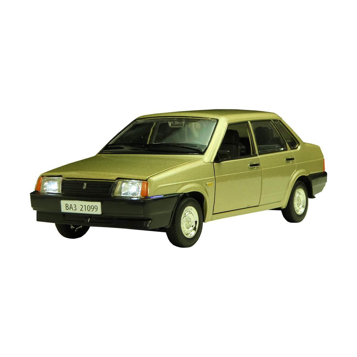 Металлическая машинка «Автопанорама» — ВАЗ 21099 (свет, звук), 1:22