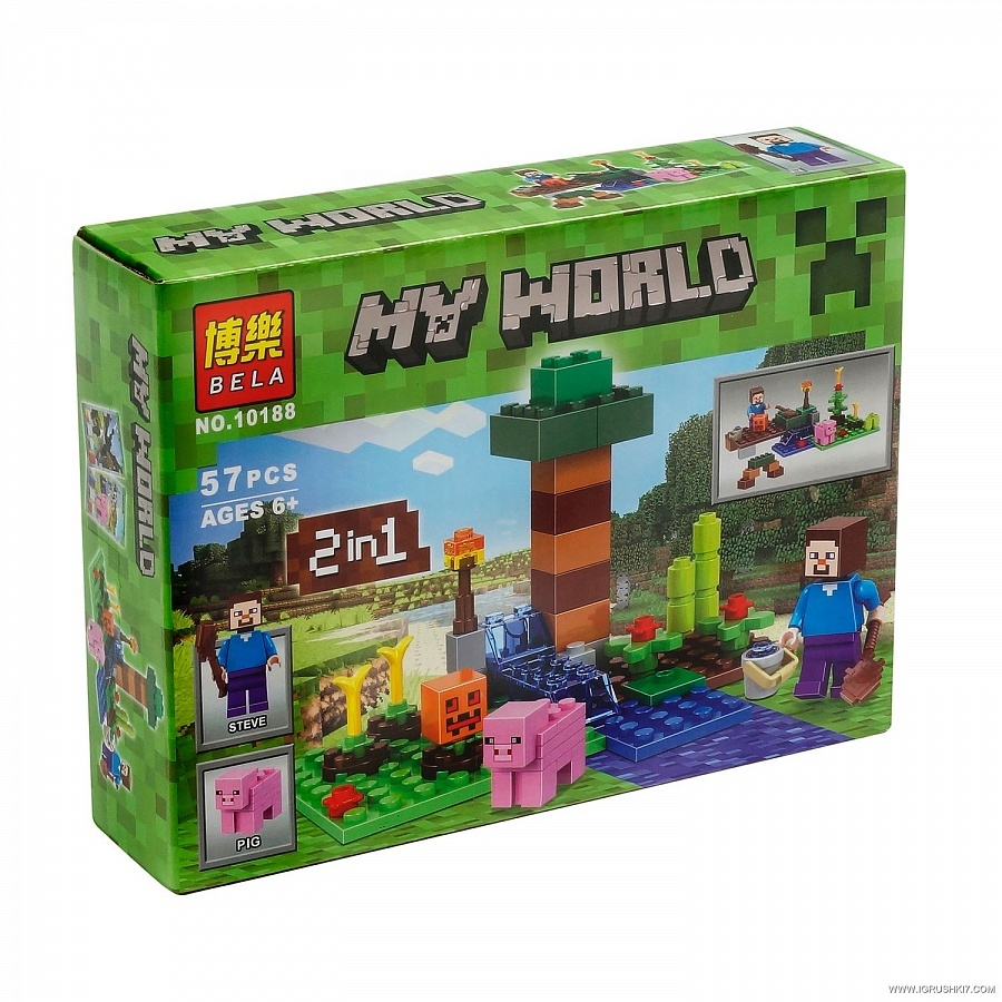 КОНСТРУКТОР MY WORLD 57 ДЕТАЛЕЙ