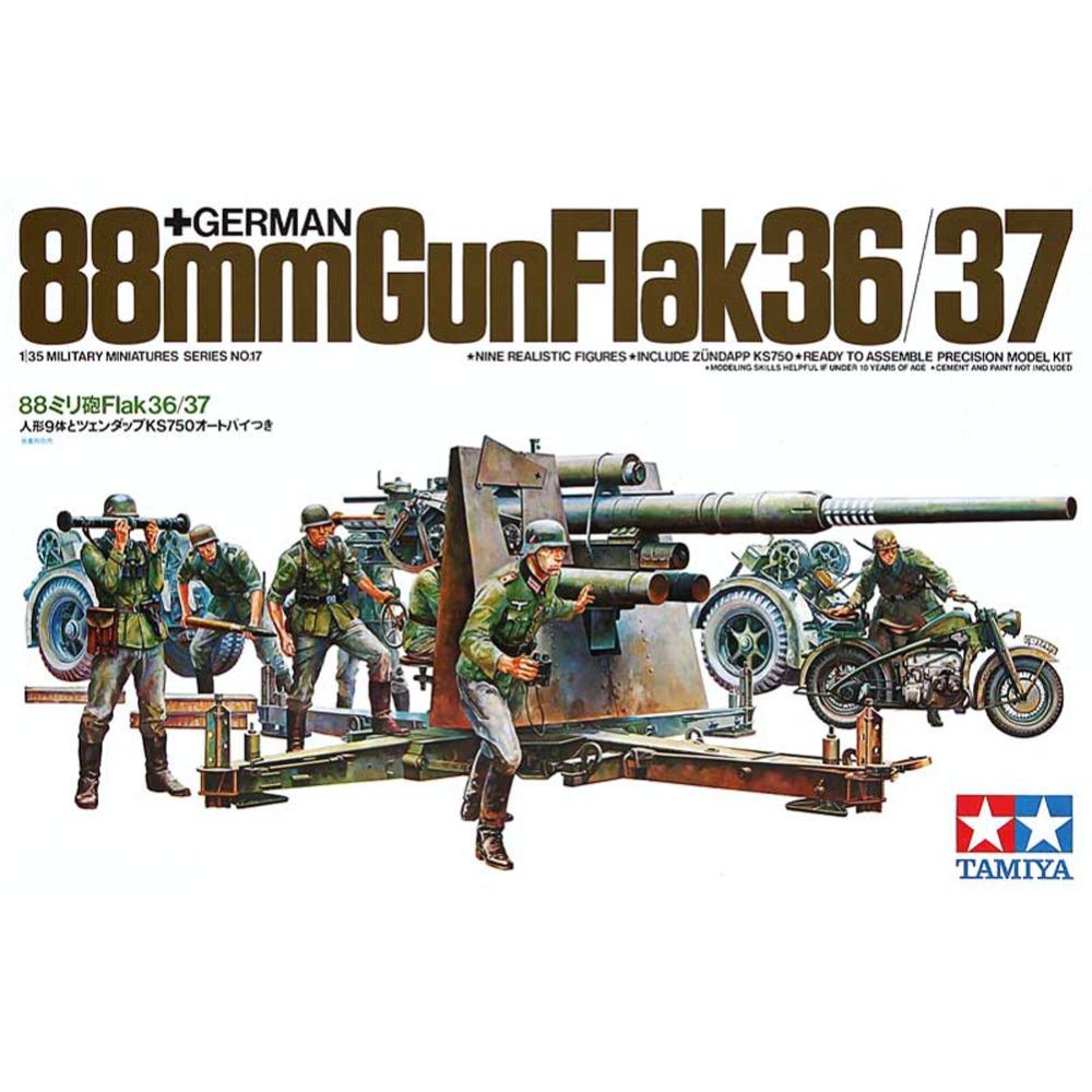 88 мм пушка Gun Flak 36/37 (1:35)