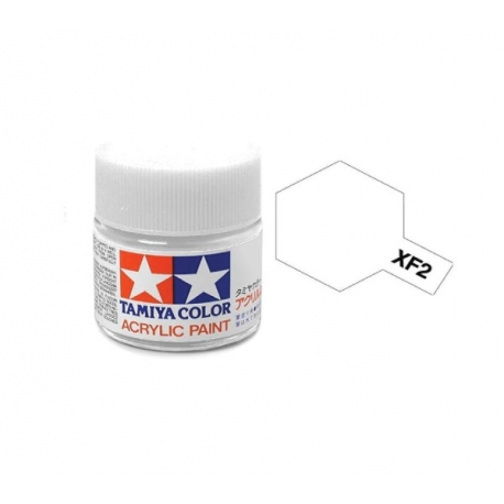 XF-2 FLAT WHITE, ACRYLIC PAINT MINI 10 ML. (БЕЛЫЙ МАТОВЫЙ) TAMIYA