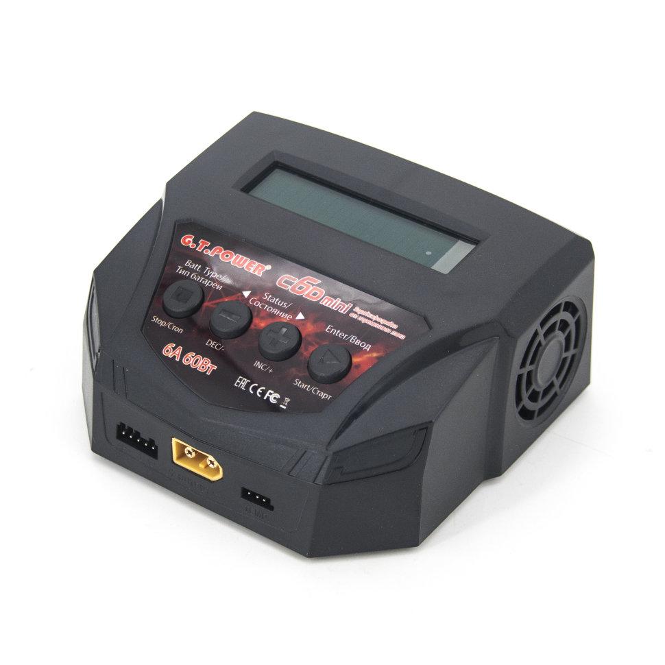 Универсальное зарядное устройство G.T.POWER C6D mini 6A 60W — GTP-C6-MINI