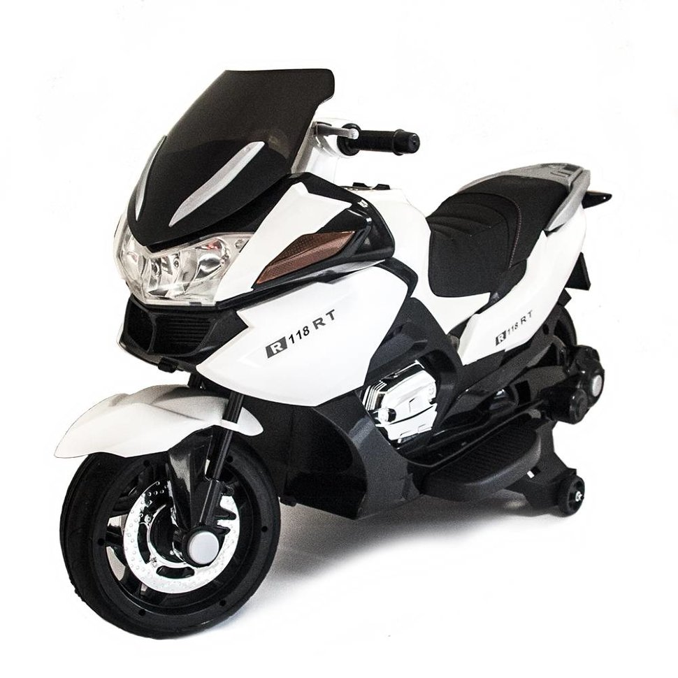 Детский электромобиль мотоцикл BMW R1200RT White 12V — HZB-118