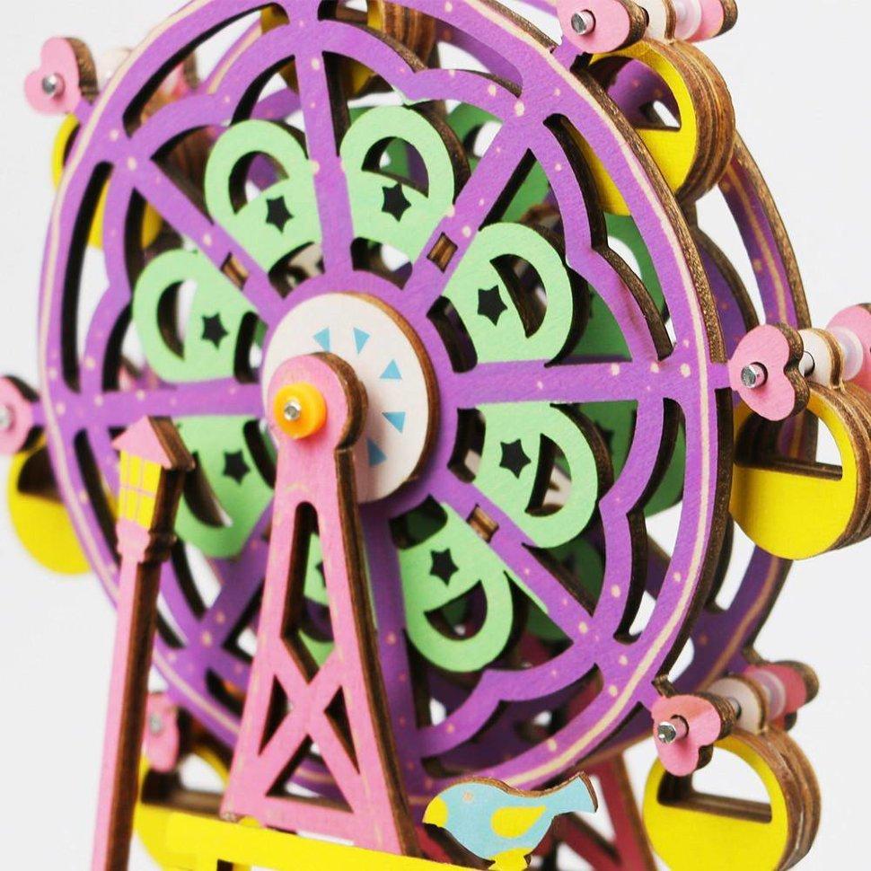Деревянный 3D конструктор — музыкальная шкатулка Robotime «Ferris Wheel» — AM402