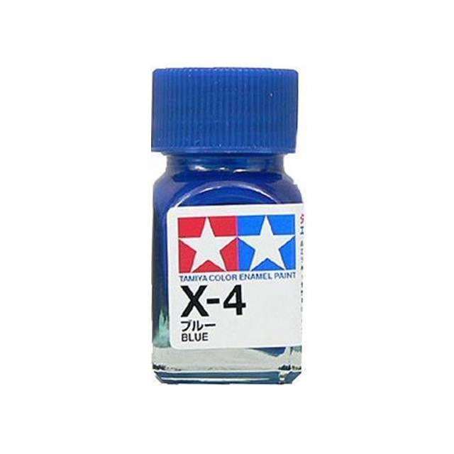 X-4 BLUE GLOSS, ENAMEL PAINT 10 ML. (СИНИЙ ГЛЯНЦЕВЫЙ) TAMIYA