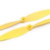 Воздушные винты для квадрокоптера Xiro Mini желтые. Правого и Левого вращения.