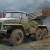 01028 пусковая установка БМ-21 Град (1:35)