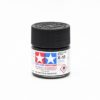 X-18 SEMI-GLOSS BLACK, ACRYLIC PAINT MINI 10 ML. (ЧЁРНЫЙ ПОЛУМАТОВЫЙ) TAMIYA