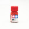 XF-7 FLAT RED, ENAMEL PAINT 10 ML. (КРАСНЫЙ МАТОВЫЙ, КРАСКА ЭМАЛЕВАЯ 10 МЛ.) TAMIYA