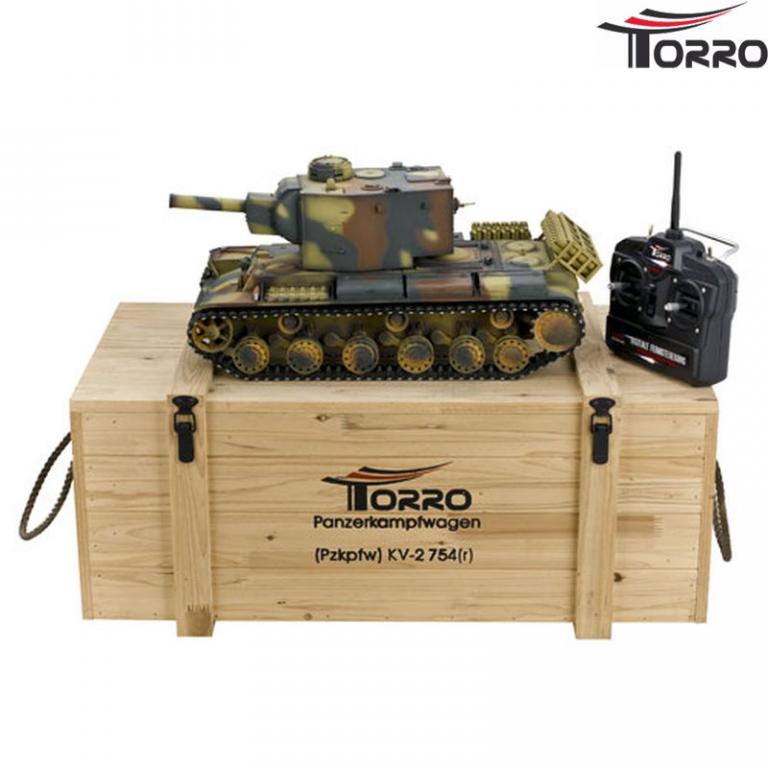 Радиоуправляемый танк Torro Russia КВ-2 RTR масштаб 1:16 2.4G