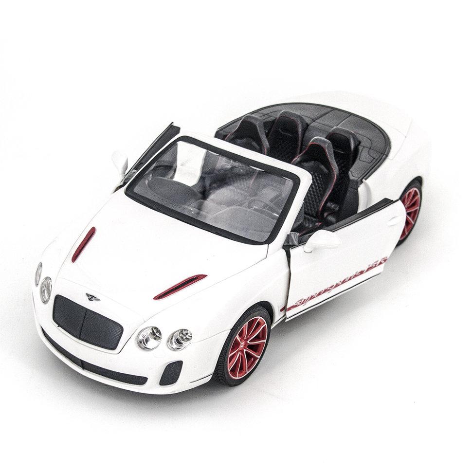 Радиоуправляемая машина MZ Bentley Continental GT Supersport ISR 2011 White 1:14, открываюся двери и капот