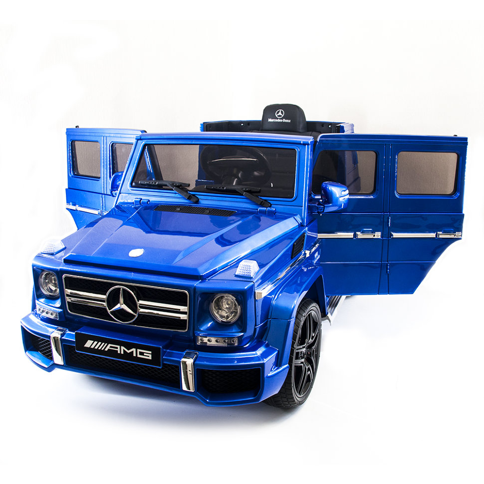 Детский электромобиль Mercedes Benz G63 LUXURY 2.4G – Blue – HL168-LUX
