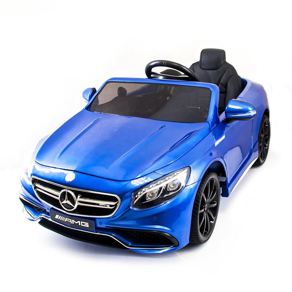 Детский электромобиль Mercedes Benz S63 LUXURY 2.4G -Blue