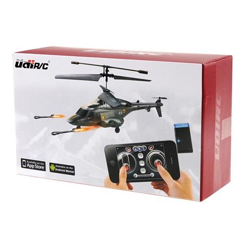 Вертолет UDIRC COBRA U810А 230 мм 3CH IR электро,гироскоп, iPhone, 2 ракетн. установки