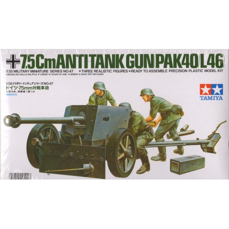Немецкая 75-мм противотанковая пушка PAK40/L46 с 3-мя фигурами (1:35)