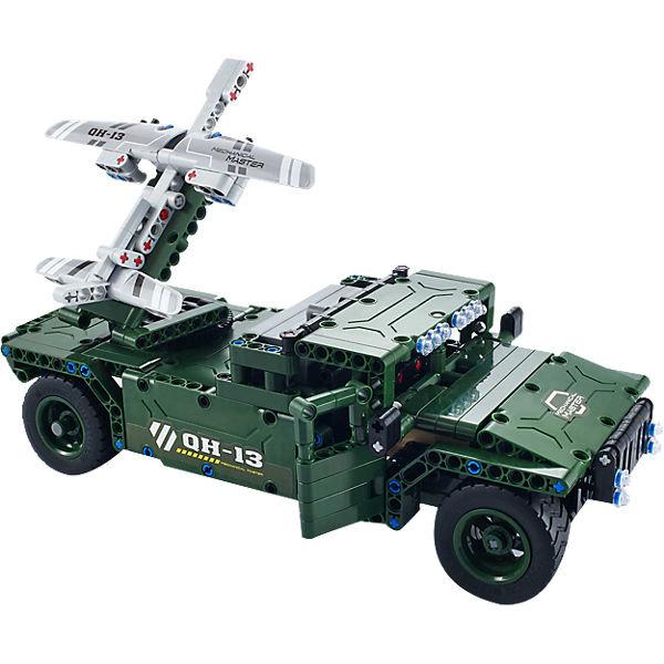 Радиоуправляемый конструктор боевой джип QiHui Technics 4CH 2.4G 502 детали – QH8013