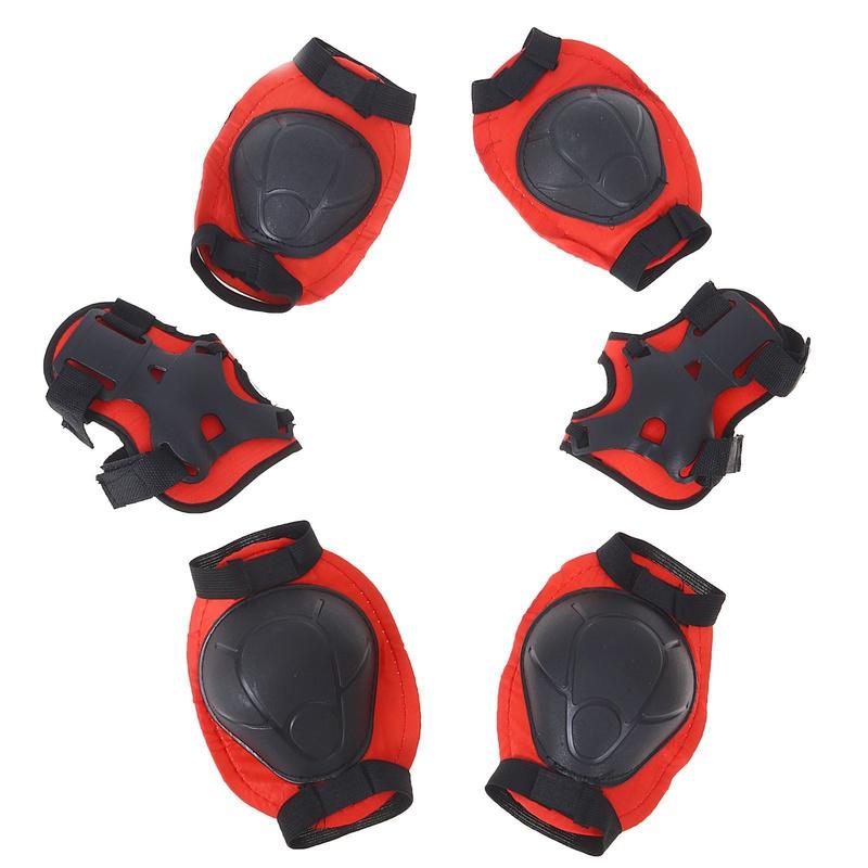 Защита роликовая, размер М, цвет красный