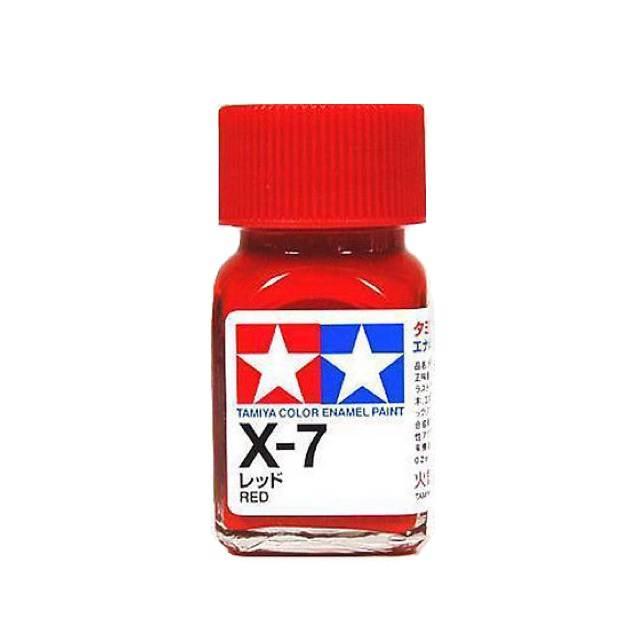 X-7 RED GLOSS, ENAMEL PAINT 10 ML. (КРАСНЫЙ ГЛЯНЦЕВЫЙ) TAMIYA