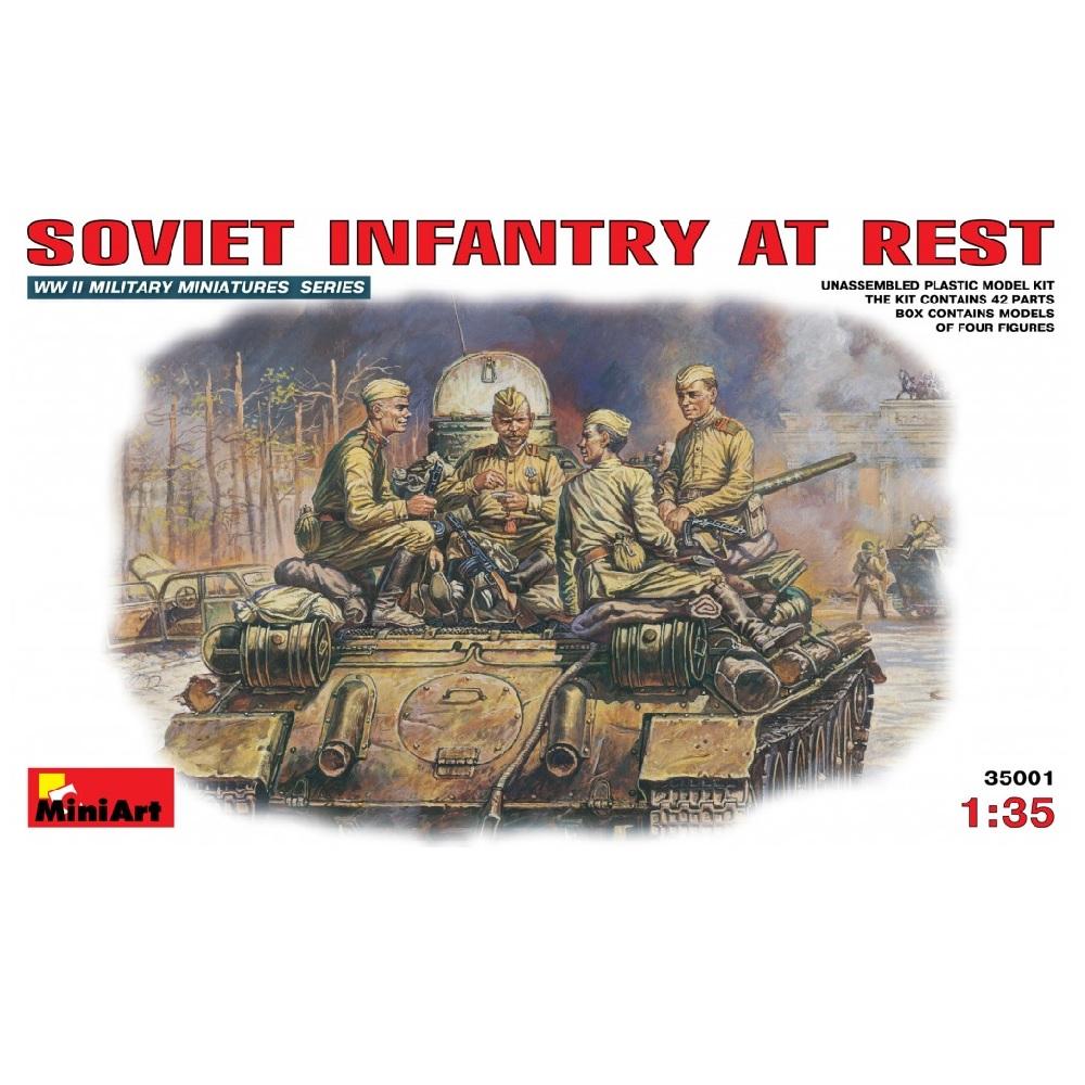 35001 фигуры SOVIET INFANTRY AT REST (1:35)