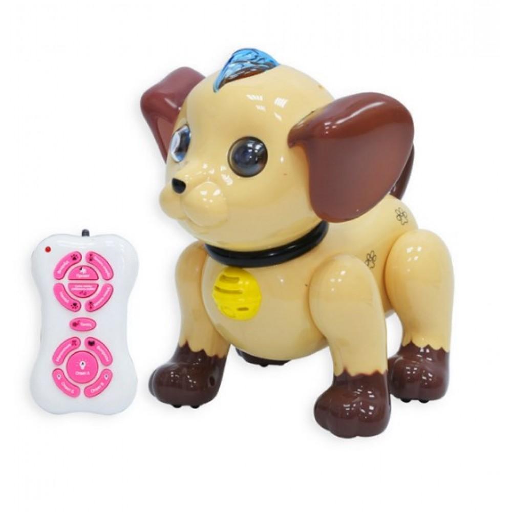 Радиоуправляемый робот собачка Умный Я (коричневый)