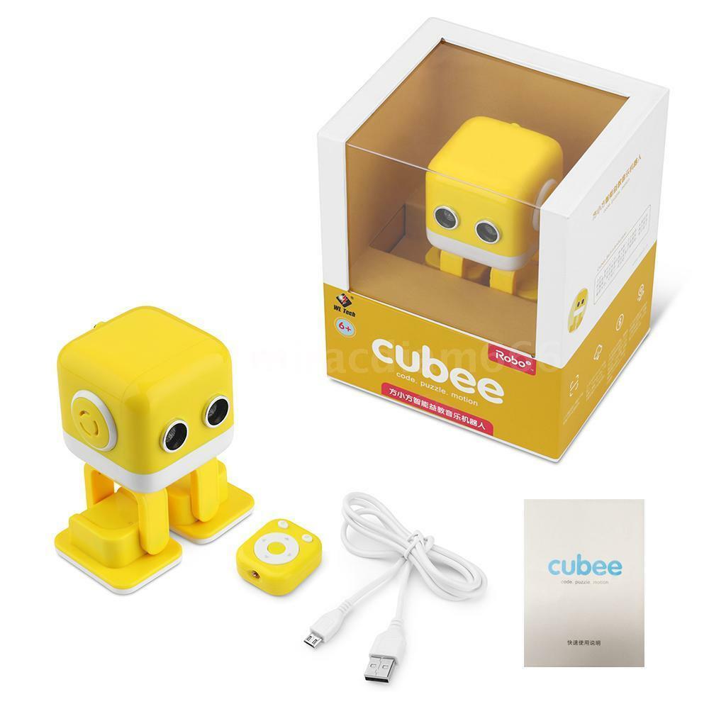 Интеллектуальный танцующий робот WLtoys Cubee Yellow