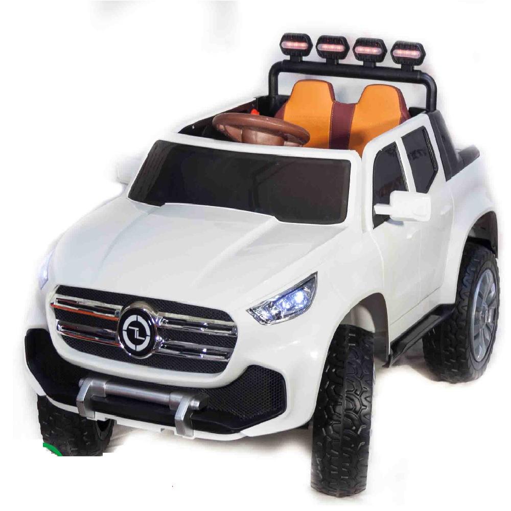 Электромобиль Джип Mercedes Benz пикап , белый краска