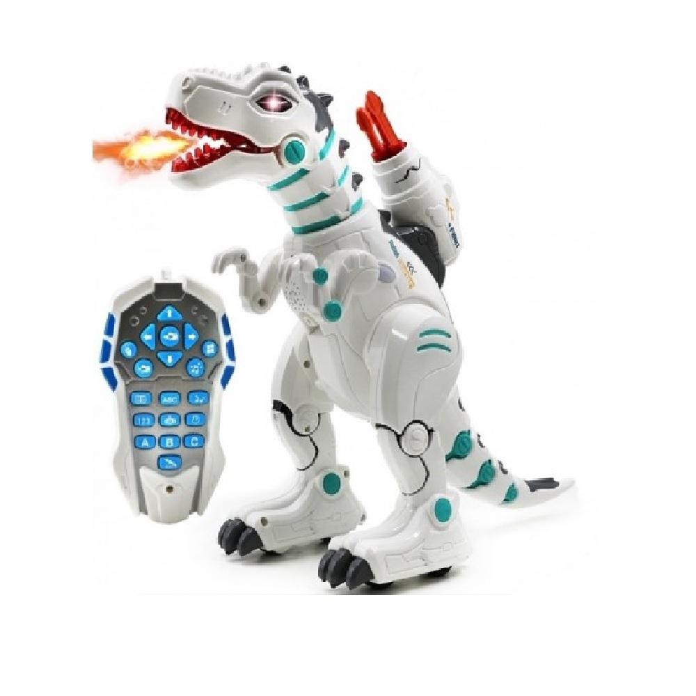 Радиоуправляемый интерактивный динозавр, стреляет ракетами + дышит паром – ZYB-B2981